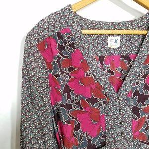 Anthropologie Tops - Anthro Edme & Esyllte floral tie back blouse 10